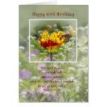 Cumpleaños, 67.o, religioso, mariposa tarjeta