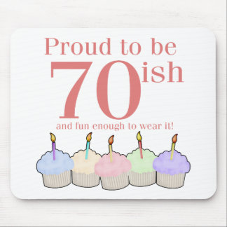 cumpleaños 70ish alfombrillas de ratón