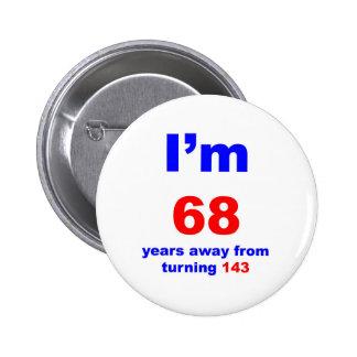 Cumpleaños 75 pin redondo 5 cm