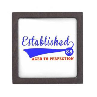 Cumpleaños 88 envejecido a la perfección caja de recuerdo de calidad
