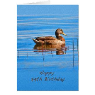 Cumpleaños, 89.o, pato del pato silvestre tarjeta de felicitación