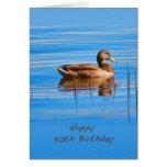 Cumpleaños, 90.o, pato del pato silvestre felicitaciones