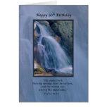 Cumpleaños, 90.o, religioso, cascada de la montaña felicitaciones
