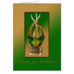 Cumpleaños, 95.o, escultura de cristal tarjetas