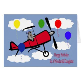 Cumpleaños a la tarjeta de felicitación de la hija