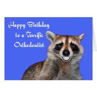 Cumpleaños a la tarjeta de felicitación del Orthod