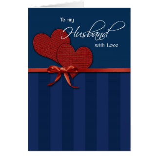 Cumpleaños - a mi marido w/love tarjeta de felicitación