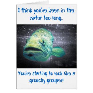 Cumpleaños a pescado tarjeta de felicitación