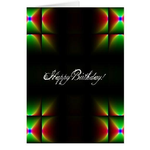 Cumpleaños abstracto tarjeta de felicitación