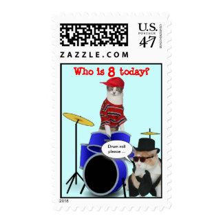 Cumpleaños adaptable del redoble de tambor sello postal