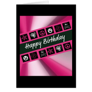 Cumpleaños adolescente de las rosas fuertes tarjeta de felicitación