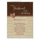 ¿Cumpleaños al marido - por qué haga te amo?