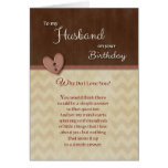 ¿Cumpleaños al marido - por qué haga te amo? Tarjeta De Felicitación