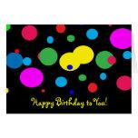 Cumpleaños alegre de los círculos de color tarjeta