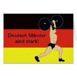 Cumpleaños alemán fuerte de los hombres tarjeta