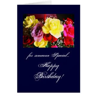 Cumpleaños: alguien especial tarjeta de felicitación
