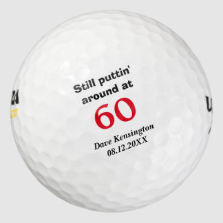 Cumpleaños alrededor 60 de Puttin personalizado Pack De Pelotas De Golf