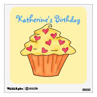 Cumpleaños amarillo y anaranjado personalizado de