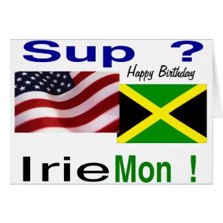 Cumpleaños americano jamaicano felicitacion