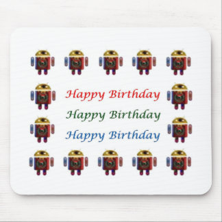 Cumpleaños ANDROIDE de HappyBirthday feliz Alfombrilla De Raton