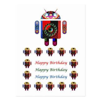 Cumpleaños ANDROIDE de HappyBirthday feliz Tarjetas Postales