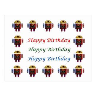 Cumpleaños ANDROIDE de HappyBirthday feliz Postales
