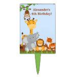 Cumpleaños animal Cakepick del muchacho de la Decoración Para Tarta