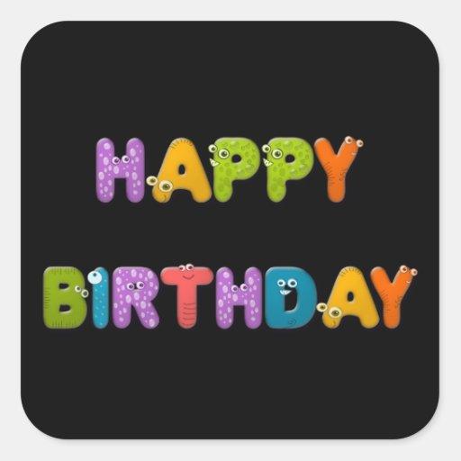 cumpleaños animal del alfabeto colcomanias cuadradass