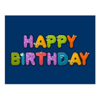 cumpleaños animal del alfabeto postal