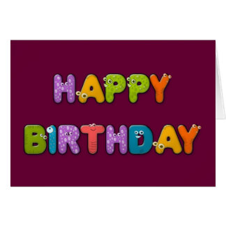 cumpleaños animal del alfabeto tarjetón