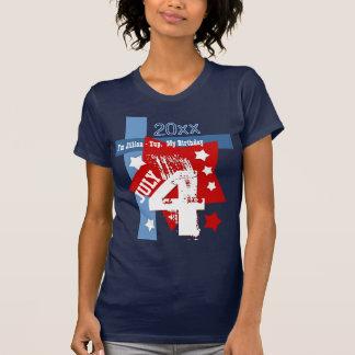 CUMPLEAÑOS año de encargo AZUL BLANCO ROJO V11 del Camiseta