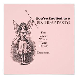 Cumpleaños antiguo femenino del Sprite o del Invitación 13,3 Cm X 13,3cm