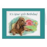 Cumpleaños arrugado divertido de la edad avanzada  tarjeta