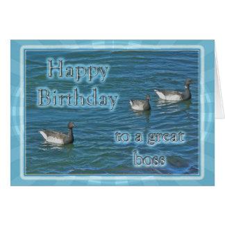 Cumpleaños atlántico de Boss de los gansos de barn Tarjeta De Felicitación