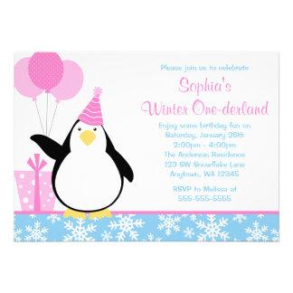 Cumpleaños azul de Onederland del invierno de los Comunicados Personales