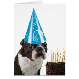 Cumpleaños azul del gorra tarjeta de felicitación