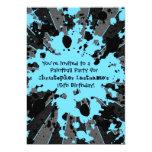 Cumpleaños azul enrrollado de Paintball de la Invitación 12,7 X 17,8 Cm