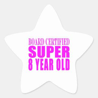 Cumpleaños B. Certified Super de los chicas ocho Pegatina En Forma De Estrella