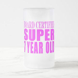 Cumpleaños B. Certified Super de los chicas siete Jarra De Cerveza Esmerilada