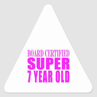 Cumpleaños B. Certified Super de los chicas siete Pegatinas De Triangulo