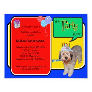 Cumpleaños Barker de Labradoodle Invitación 10,8 X 13,9 Cm