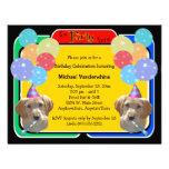 Cumpleaños Barker del perrito de Labradoodle Invitacion Personal