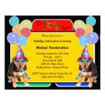 Cumpleaños Barker del perrito del pastor alemán Invitación Personalizada