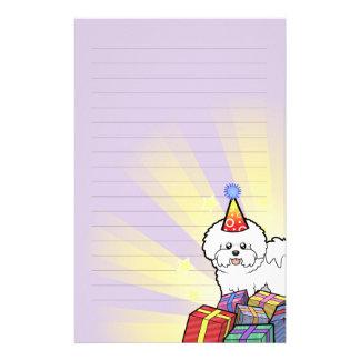 Cumpleaños Bichon Frise Papelería Personalizada