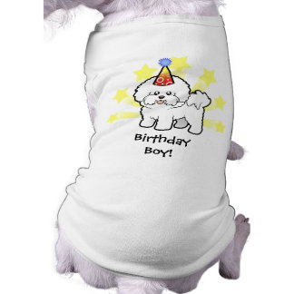 Cumpleaños Bichon Frise Playera Sin Mangas Para Perro