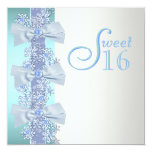 Cumpleaños blanco azul del dulce dieciséis del comunicados personales