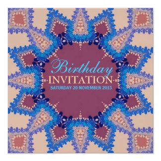 """Cumpleaños bohemio de la estrella/invitación invitación 5.25"""" x 5.25"""""""