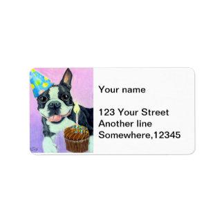 Cumpleaños Boston Etiquetas De Dirección