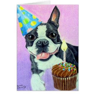 Cumpleaños Boston Felicitación