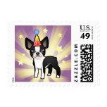 Cumpleaños Boston Terrier Sellos